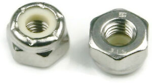 316-Stainless-Steel-Nylon-Insert-Lock-Nuts-Nylock-Sizes-4-40-to-1-2-034-20-QTY-25