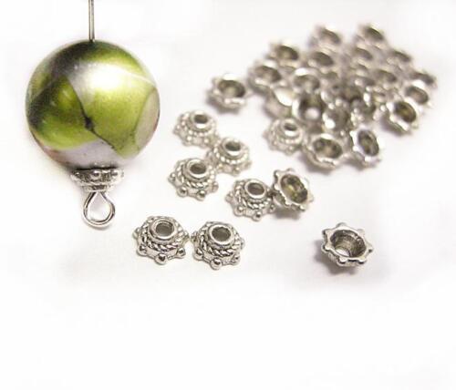 30pc 5mm antique silver metal bead cap-1781A