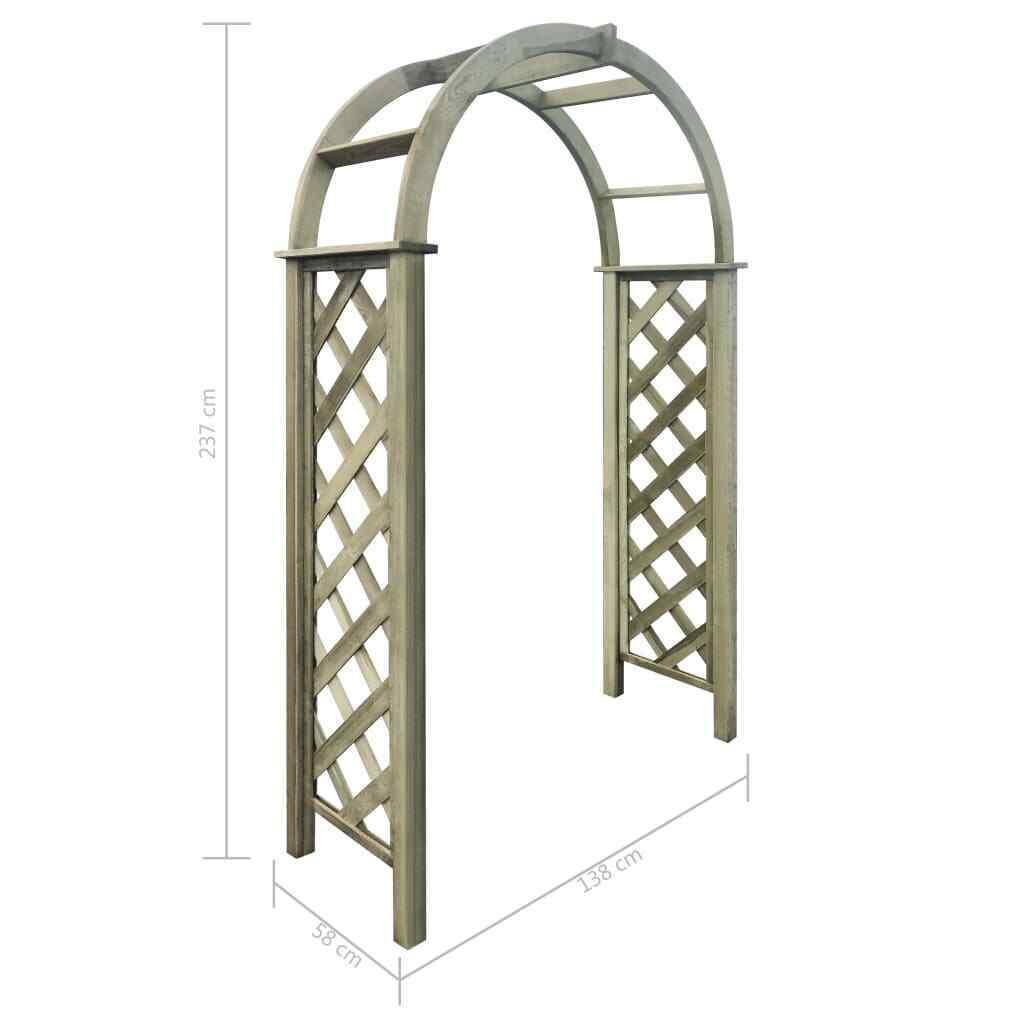 Treillis Bois Pas Cher vidaxl arche avec treillis bois de pin vert imprégné