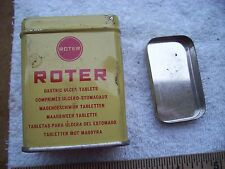 "Vintage Advertising Tin Roter Gastric Ulcer Tablet Hilversum Holland 2 5/8"" tall"