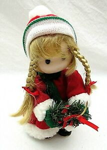 Christmas-Girl-Musical-Doll-Animated-Jingle-Bells-Rare-Vintage-Terrys-Village