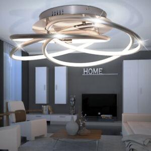 40-Watt-LED-Decken-Lampe-Design-Beleuchtung-Wohn-Raum-Alu-Ring-Leuchte-dimmbar