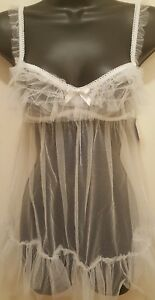 4f53a41cad4 Image is loading Wedding-Bridal-Babydoll-I-DO-Collection-Lingerie-by-