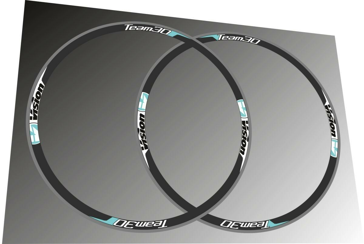 VISION TEAM  30 CELESTE REPLACEMENT RIM DECAL SET FOR TWO RIMS  shop online today