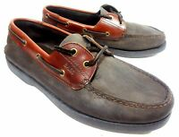 BASS MENS DECK BOAT SHOES BROWN LEATHER COMFORT FOOTWEAR SIZE 9 M