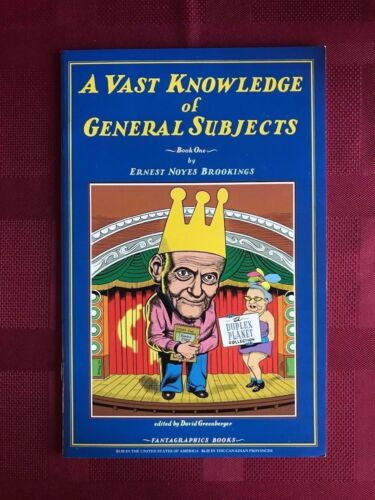 A VAST KNOWLEDGE OF GENERAL SUBJECTS #1 BROOKING FANTAGRAPHICS VF Condition