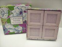 Lavender & Thyme Shea Butter Soap 4 Bars Greenwich Bay Trading Co. - New/sealed