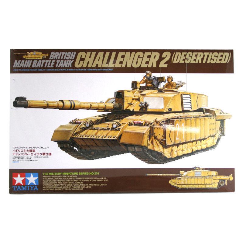 Challenger 2 (Desertised) 1 35 Military Model Kit - Tamiya 35274