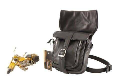 LEDER Beintasche Gürteltasche LegBag Oberschenkeltasche Motorrad Tasche