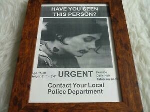 Framed original prop screen used The Watcher 2000 lost poster Keanu Reeves spade