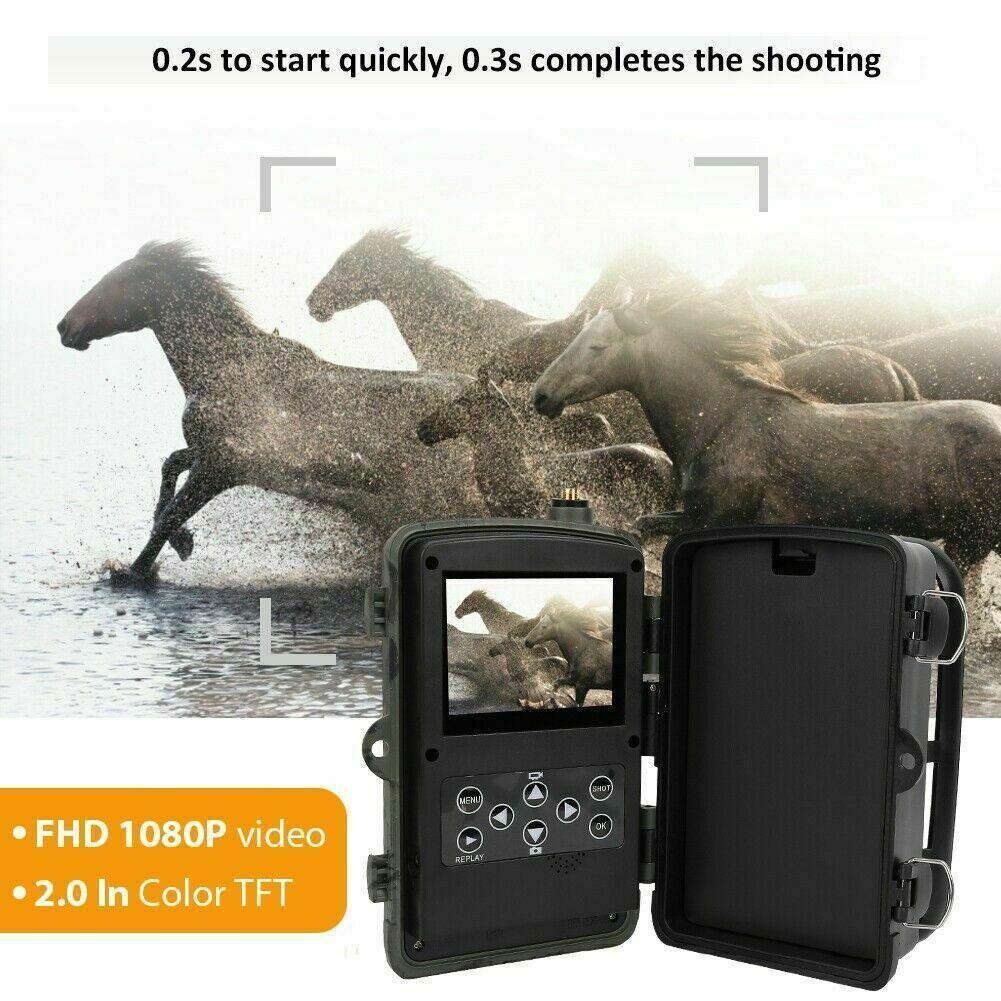 HC-801G 3G Sms Mms Cámara De Caza 1080P 16MP 36 lentes de visión nocturna cámara de Scouting