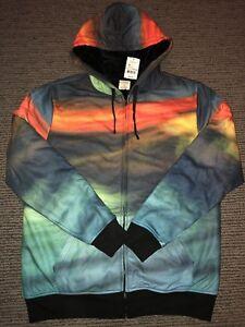 New-Mens-Hybrid-Threads-Blood-Cloud-Medium-M-Super-Soft-Jacket-Hoodie