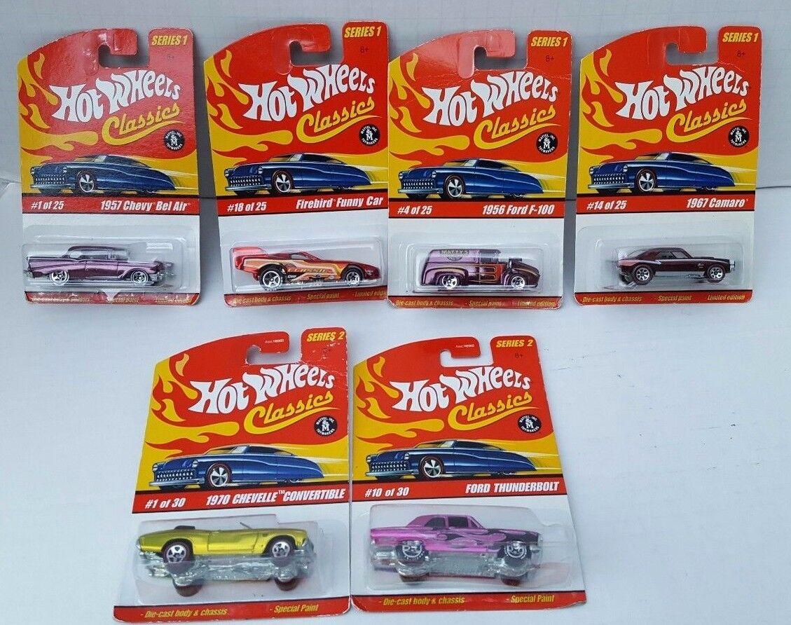 Hot Wheels Classics Series 1 2 LOT Chevelle Congreenible 1967 Camaro 2 Strip 2004