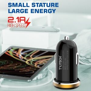 Dual-Port-USB-Rapid-Car-Charger-2-1A-Fast-Charging-For-Apple-Samsung-HTC