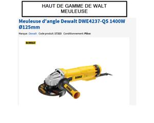 Meuleuse dangle Dewalt 125 mm + accessoires 800W Neuf Envoi Suivi