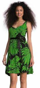 Robe Desigual Verte Et Noire Taille S Comme Neuve Ebay