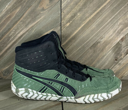 Asics Aggressor 4 Wrestling Shoes Green 1081A001 M