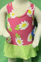 Iplay Pink Floral Green Polka Dot Skirt One Piece Swim Suit Bathing Diaper