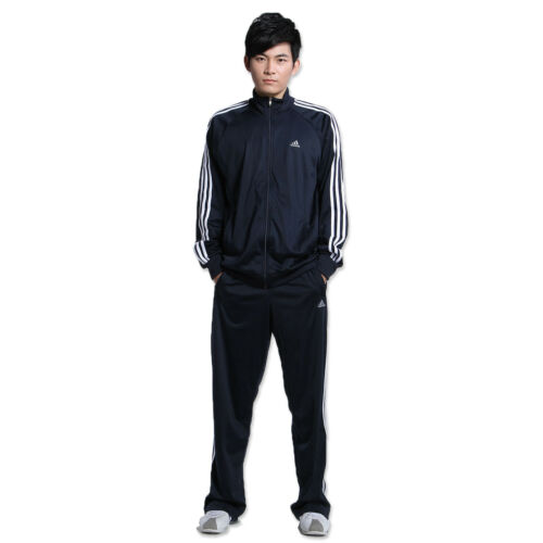joggingbroek 3s Adidas trainingspak jas logo Essential blauw Navy qvqdrIw
