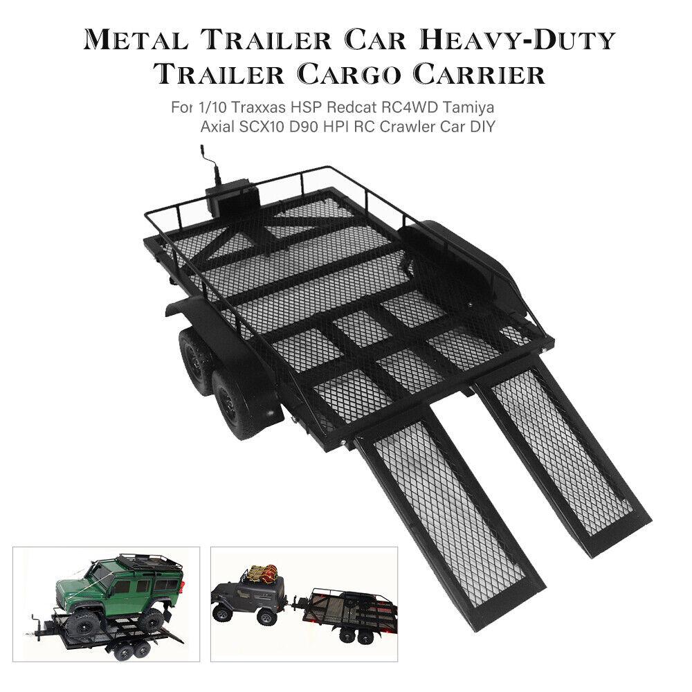Trailer Car Cargo Carrier Metal Kit for 1/10 Traxxas HSP Redcat RC4WD Tamiya UK NOW £53.90 @ eBay