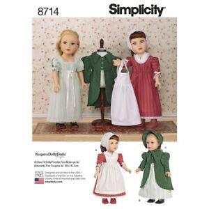 SEWING-PATTERN-MAKE-DOLL-CLOTHES-FITS-AMERICAN-GIRL-CAROLINE-JOSEFINA-FELICITY