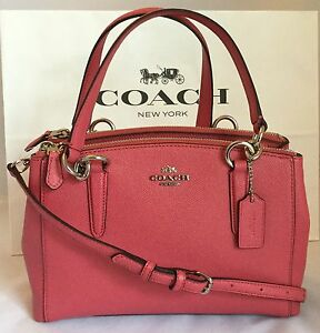 66c3a8704595 Image is loading COACH-MINI-CHRISTIE-CARRYALL-IN-CROSSGRAIN-LEATHER-F57523-