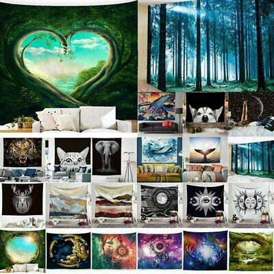 95x73cm 3D Prints Hanging Wall Tapestry Hippie Bedspread Throw Room Dormitory F