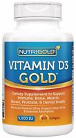 Nutrigold Vitamin D3 5000 Iu, 360 Mini Softgels (gmo-free, Preservative-free, on sale