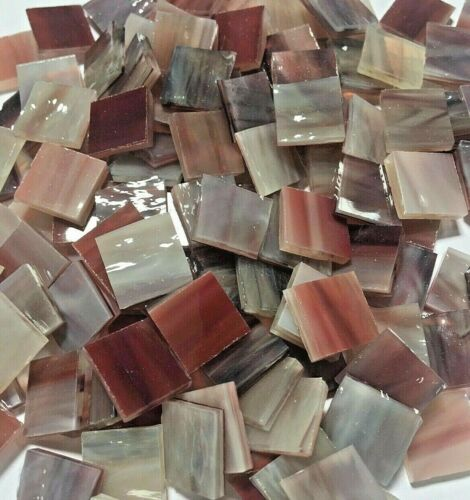 """100 PIECES 1//2/"""" SIERRA RED Stained Glass Mosaic Tiles"""