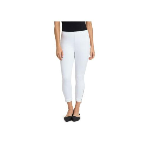 Lysse Womens White Zipper Cuff Mid-Rise Stretch Cropped Jeans M BHFO 9422