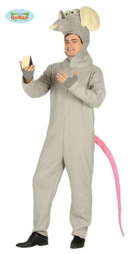 GUIRCA Costume vestito topo topolino ratto animali carnevale uomo MOUSE TG.52//54
