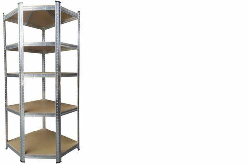 KYNAST Eck Schwerlast Steckregal Silbergrau bis 875kg 5 verstellbare Böden Regal