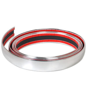 40mm-x-5m-CHROME-TRIM-MOULDING-STRIP-ADHESIVE-INTERIOR-EXTERIOR-Car-Van-Bus-NEW