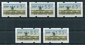 5 X Berlin Atm Tamponné Distributeurs Automatiques De Marque Complément Valeurs 1,35 Dm 0,85, 0,65...-n Ergänzungswerte 1,35 Dm 0,85 , 0,65...afficher Le Titre D'origine