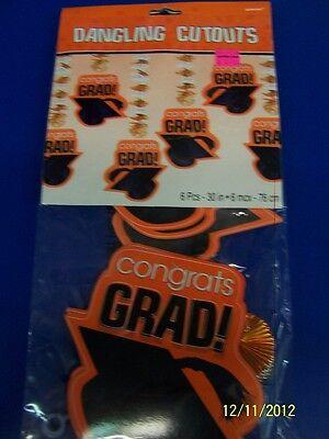 Yellow Congrats Grad Cap Graduation Party Hanging Decoration Dangling Cutouts