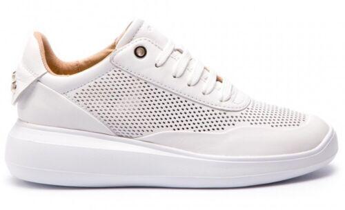 GEOX RESPIRA RUBIDIA D84APA scarpe donna sneakers pelle zeppa stringhe tacco