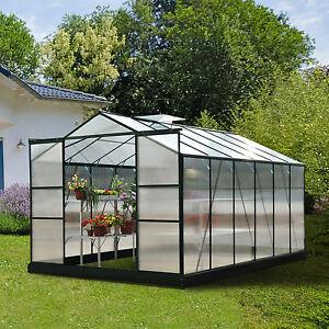 gew chshaus pflanzenhaus treibhaus fr hbeet tomatenhaus mit ohne fundament alu ebay. Black Bedroom Furniture Sets. Home Design Ideas