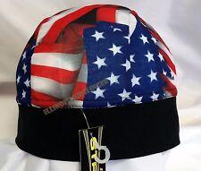 Schampa Z-Wrap Stretch Doo Rag Headwrap American Flag Design Micro-Fiber NWT1022