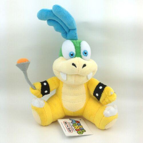 "Larry Koopa Super Mario Bros Plush Toy Cheatsy Male Koopalings Stuffed Animal 6"""