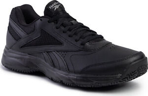 Reebok-Men-Shoes-Walking-Black-Slip-Oil-Resistant-Work-N-Cushion-4-0-FU7355-New