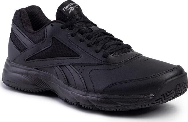 Reebok Herren Schuhe Walking Schwarz Slip Ölbeständig Arbeit N Kissen 4.0 FU7355