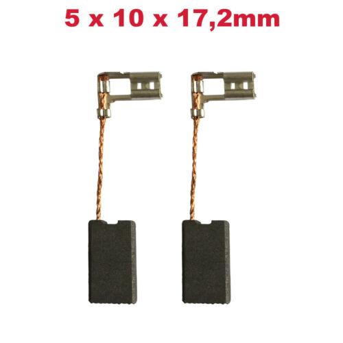 2x Schleifkohle Kohlebürste 5x10x17.2mm für Bosch PBH 300 E 335876.8 0603358703