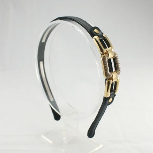 3 COLORS LUXURY LEATHER HEADBAND HAIR ACCESSORIES BUCKLE UNIQUE HB2213 ANNIELOV