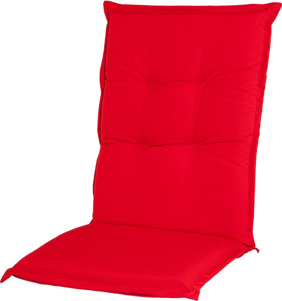 Casa Mina Polsterauflage Sitzauflage  Classic Uni  rot Dessin 1202