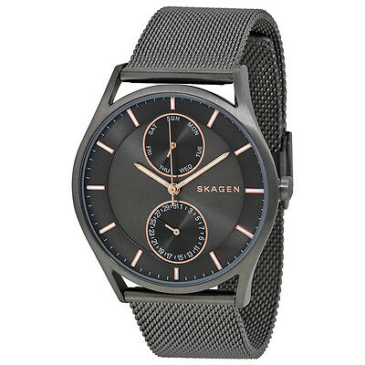 Skagen Holst Multi-Function Grey Dial Stainless Steel Mesh Unisex Watch SKW6180
