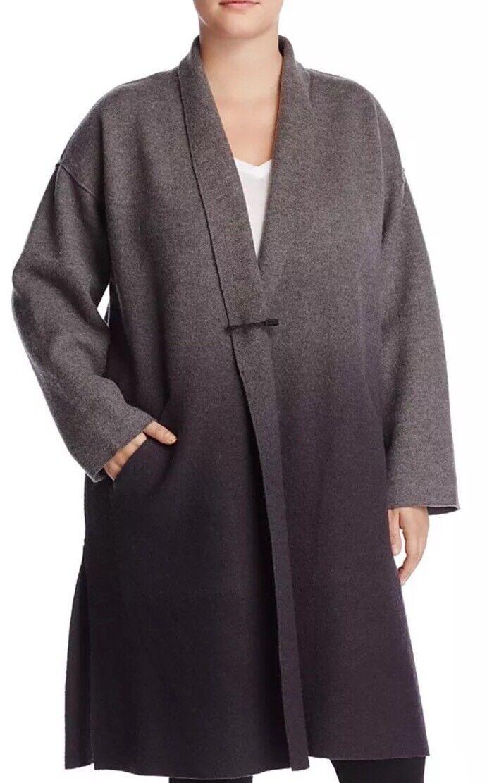 Nuevo EILEEN FISHER Fresno Cochebón Ombre hervidos Kimono K L  abrigo de lana o s  498  Nuevos productos de artículos novedosos.