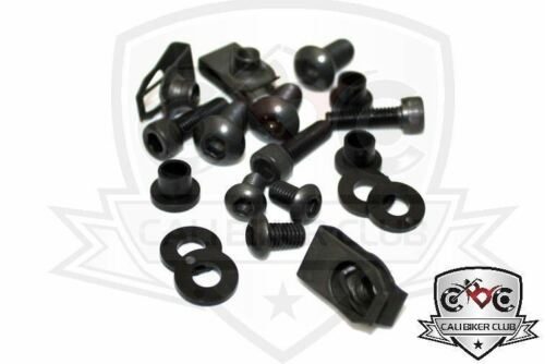Complete Black Fairing Bolt Kit Body Screws Bolts for Suzuki SV1000 SV650 03-09