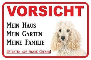 15x20-40x60cm Hund S0932 KöStlich Im Geschmack Mein Haus Weißer Pudel Initiative Schild Vorsicht