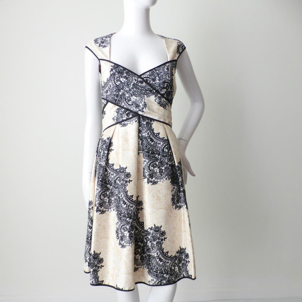 JESSICA SIMPSON - NEW -  Größe US 6 AU 8 - 10 Dress Sleeveless Fit and Flare