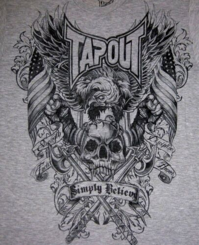 "Tapout /""WARRIOR/"" STRENGHT FOCUS DISCIPLINE HONOR Tee T-Shirt MMA FIGHT CLUB"